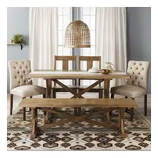 target dining room furniture astounding i like the mixed media chairs bench and 2 fabric two