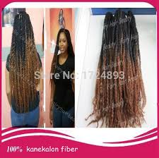 ombre marley hair stock top quality 20 fold two tone black brown synthetic twists