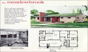 15 1950 ranch style house plans arts mid century one story 1989