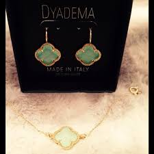 dyadema earrings 65 dyadema jewelry dyadema mint and gold earrings from