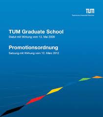 Lebenslauf Vorlage Tum Promotionsordnung Der Tu M禺nchen Und Statut Der Tum Graduate