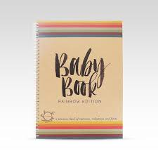 baby record book baby book rainbow edition for same parents greenie