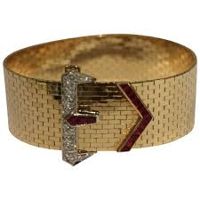 buckle bracelet gold images Tiffany and co ruby diamond gold buckle bracelet at 1stdibs jpg