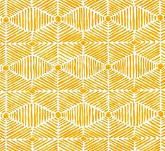 Yellow Home Decor Fabric Citrus Yellow Orange Tribal Tropical Indoor Outdoor Home Decor