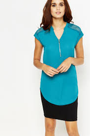 turquoise blouse turquoise zip front blouse just 5