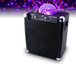 ion bluetooth speaker with lights ion party rocker portable speaker system projects cool lights