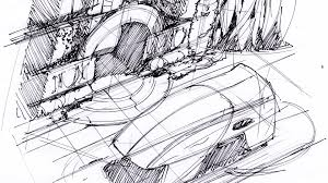 the techniques of syd mead 1 thumbnail sketching and line drawing