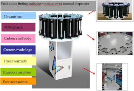 paint color tinting machine manual colorant dispenser mixing