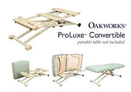 oakworks proluxe massage table amazon com oakworks 64176 proluxe convertible home improvement