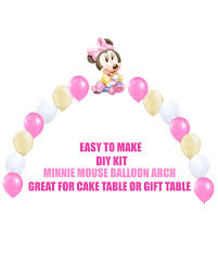 baby minnie mouse 1st birthday balloons minnie party decor cake
