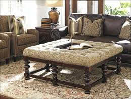 living rooms design awesome small ottoman with shelf round