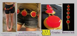 teen titans cosplay ravens belt by graphospasm deviantart com on