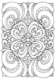 complex geometric coloring paper vintage