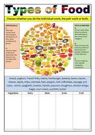 cuisine types 5 free esl types of food worksheets