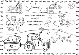 farm animals in spanish coloring pages free printable farm animal