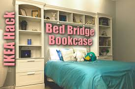 Ikea Hack Twin Bed With Storage Bed Bridge Bookcase From Ikea Brimnes Billy Ikea Hackers