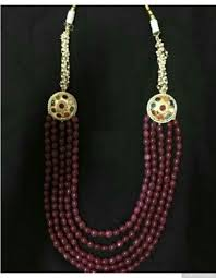 ruby beads necklace images Navratan sides 5 layered ruby beads necklace jpg