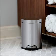 Bedroom Trash Cans For Girls Amazon Com Simplehuman Mini Round Step Trash Can White Steel