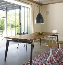 Contemporary Dining Table Contemporary Dining Table Walnut Solid Wood Natural Oak