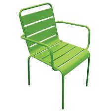 chaises salon de jardin chaise de salon de jardin en acier vert palavas achat vente
