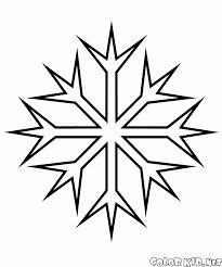 coloring page fractal snowflake