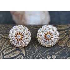 big stud earrings studs earrings american diamond big stud earrings online orne