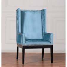 tov furniture tov tri nv tribeca blue velvet wing chair w