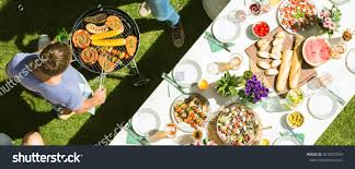 The Open Table Party Open Air Table Full Food Stock Photo 613975244 Shutterstock
