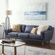 Leather Blue Sofa Blue Leather Furniture For Less Overstock
