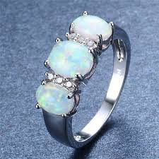 crystal opal rings images Fire opal ring white gold filled crystal ring atperrys jpg
