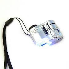 pocket magnifier with light professional mini lens 60x pocket magnifier microscope with led