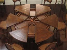 circle table that gets bigger various dining room tables with leaves built in 9571 table