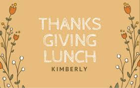 orange with floral graphics thanksgiving place card templates by