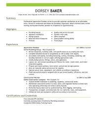 Helper Resume Sample by Apprentice Plumber Resume Sample My Perfect Resume Plumber Helper