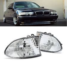 for 99 01 bmw e38 7 series corner lights side light clear lens