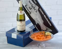 Wine Gift Boxes Smoked Salmon U0026 Wine Gift Box