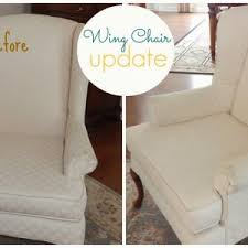 wingback chair slipcovers furniture decorating white mosaic wing chair fabric slipcover