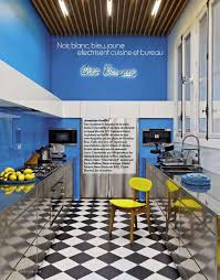 Kitchens Interiors Blue And Yellow Kitchen Interiors By Color