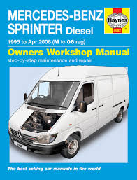 mercedes sprinter 2 2 2 9 diesel 1995 06 m to 06 reg haynes repair