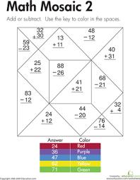 math mosaic worksheet education com