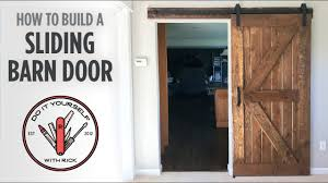 how to make your own barn door hardware diy sliding barn door youtube