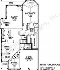 topaz way narrow floor plans texas house plans