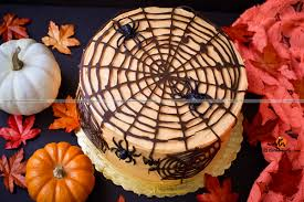 How To Decorate A Cake For Halloween How To Make Halloween Special Spider Web Cake Chocolate Cake