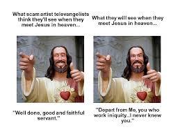 Buddy Christ Meme - meeting jesus buddy christ know your meme