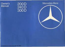 mercedes e350 owners manual 1979 1985 mercedes 200d 240d 300d w123 owners manual