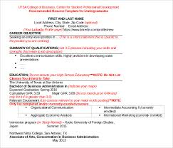 word resume templates 9 samples examples format