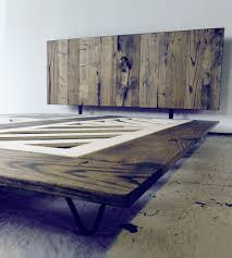 Platform Bed Wood Reclaimed Wood Platform Bed Features Reclaimed Wood Modern