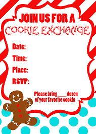 Cards Invitations Free Printable Cookie Exchange Party Free Printables Uncommon Designs