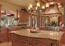 Tuscan Style Chandelier Interior Tuscan Style Kitchen Design With Broken White Pertaining
