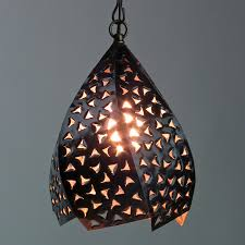 Mexican Pendant Lights Punched Twisted Hanging Light
